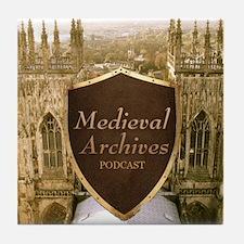 Medieval Archives Podcast Tile Coaster