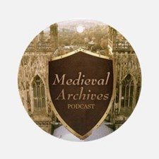 Medieval Archives Podcast Round Ornament
