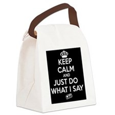 KC Just Do What I Say (White) Canvas Lunch Bag
