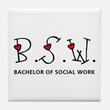 BSW Hearts (Design 2) Tile Coaster