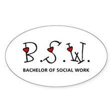 BSW Hearts (Design 2) Oval Decal