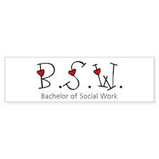 BSW Hearts (Design 2) Bumper Bumper Stickers