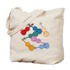 Colorful Violins - Tote Bag
