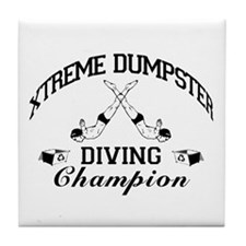 Dumpster Diver Tile Coaster
