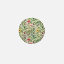 Colorful Floral Pattern Mini Button