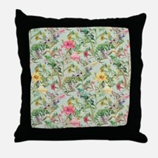 Colorful Floral Pattern Throw Pillow