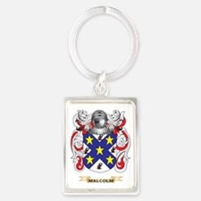 Malcolm Coat of Arms - Family Cr Portrait Keychain