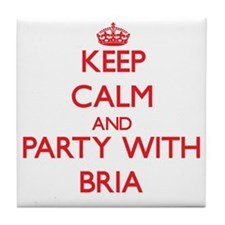 Keep Calm and Party with Bria Tile Coaster