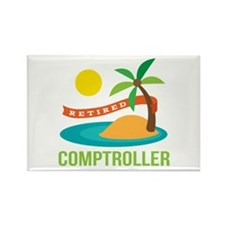 Retired Comptroller Rectangle Magnet