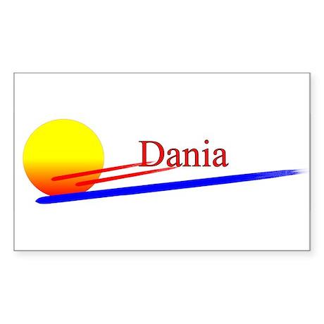 Dania Rectangle Sticker