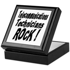 Telecommunications Techs Rock ! Keepsake Box