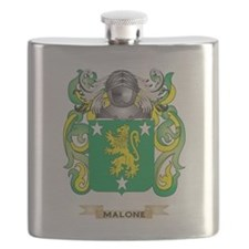 Malone Coat of Arms - Family Crest Flask