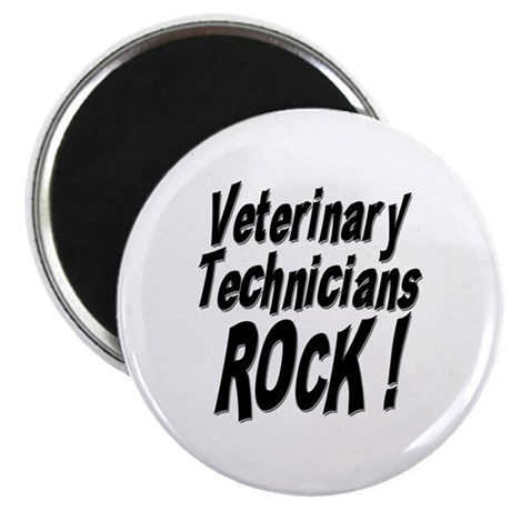 "Veterinary Techs Rock ! 2.25"" Magnet (100 pack)"