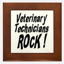 Veterinary Techs Rock ! Framed Tile