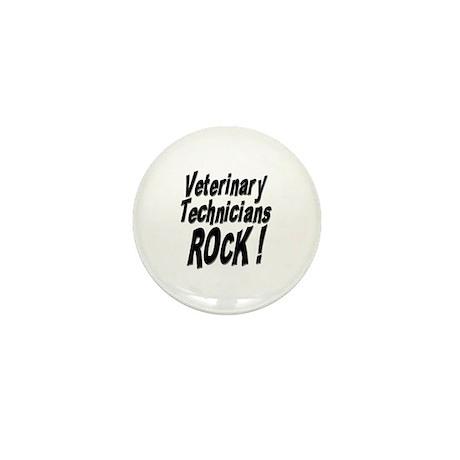 Veterinary Techs Rock ! Mini Button (100 pack)