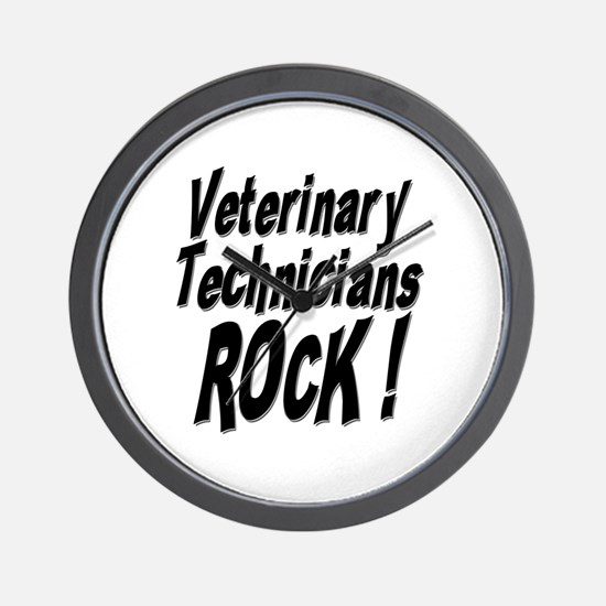 Veterinary Techs Rock ! Wall Clock