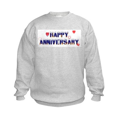 Happy Anniversary-melt Kids Sweatshirt