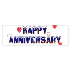 Happy Anniversary-melt Bumper Bumper Sticker