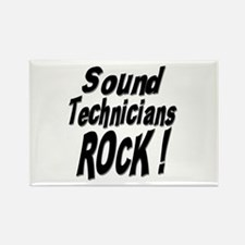 Sound Techs Rock ! Rectangle Magnet (100 pack)