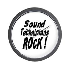 Sound Techs Rock ! Wall Clock