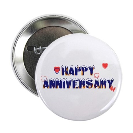 "Happy Anniversary-melt 2.25"" Button (10 pack)"