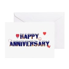 Happy Anniversary-melt Greeting Cards (Package of