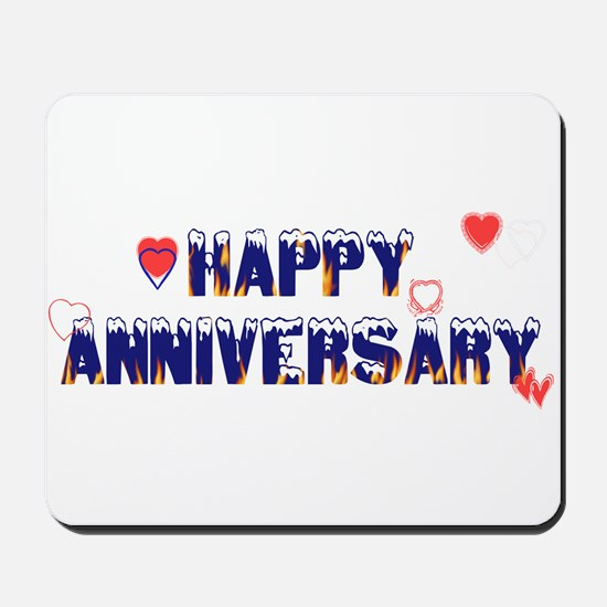 Happy Anniversary-melt Mousepad