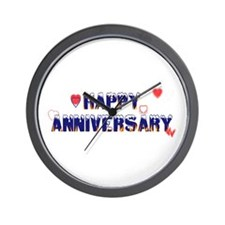 Happy Anniversary-melt Wall Clock