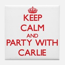 Keep Calm and Party with Carlie Tile Coaster
