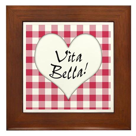 Vita Bella Framed Tile