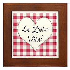 La Dolce Vita Framed Tile