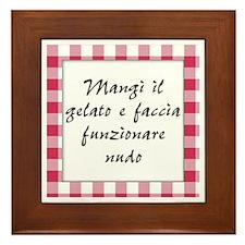 Mangi Gelato Nudo Framed Tile