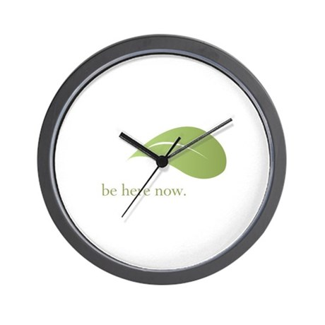 Be Here Now, Green Living Wall Clock