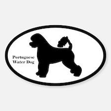 PortuguesWater Dog Silhouette Sticker (Euro Style)