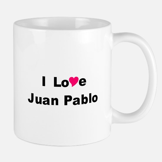 I Love Juan Pablo Mugs