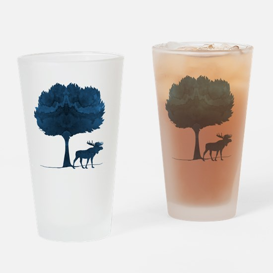 Cute Silhouette Drinking Glass
