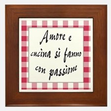Amore Cucina Passione Framed Tile