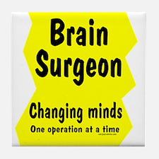 Brain Surgeon Tile Coaster