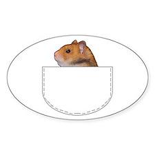 Hamster pocket pal Oval Decal