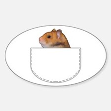 Hamster pocket pal Oval Decal