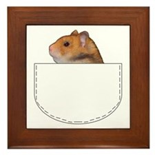 Hamster pocket pal Framed Tile