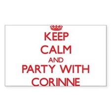 Keep Calm and Party with Corinne Decal