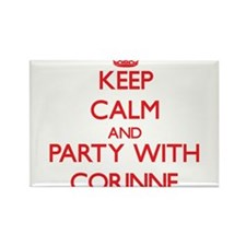 Keep Calm and Party with Corinne Magnets