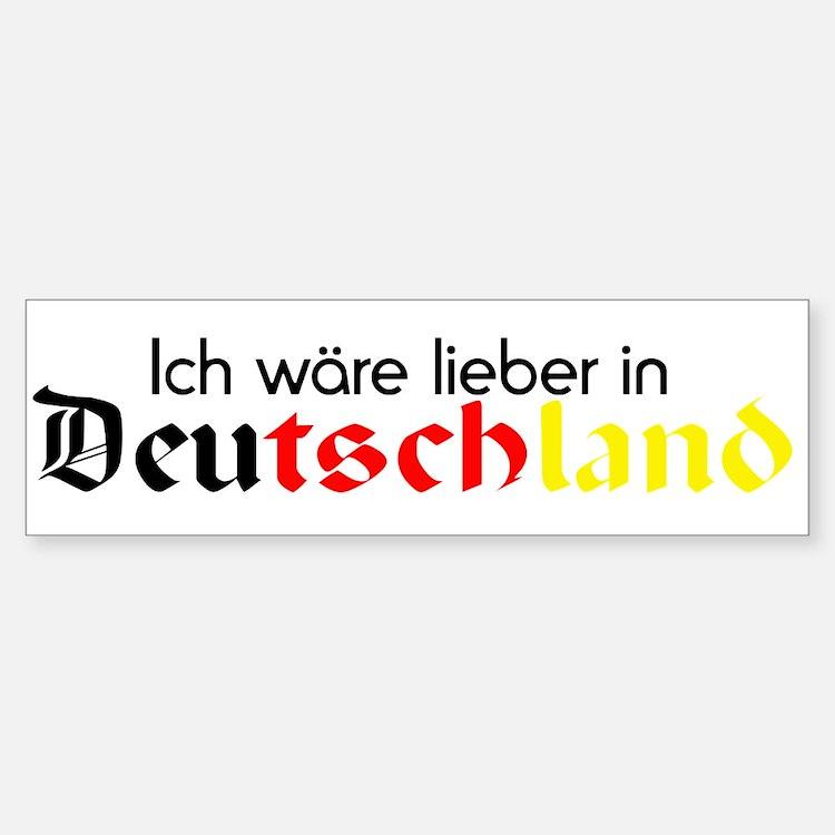 Germany Bumper Bumper Bumper Sticker