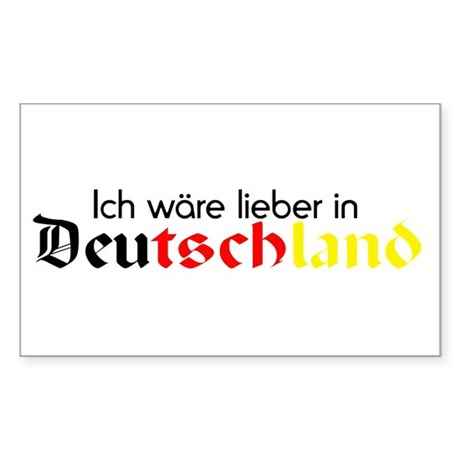 Germany Sticker (Rectangular)