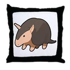 Cartoon Armadillo Throw Pillow