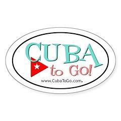 Cuba to Go! Logo Oval Decal