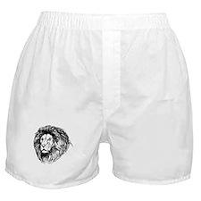 Lion Face Sketch Boxer Shorts