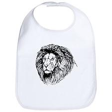 Lion Face Sketch Bib
