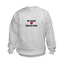 My Heart Loves Cholesterol Sweatshirt